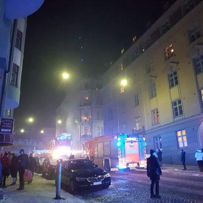 Eldsvåda i Kronohagen, Helsingfors.