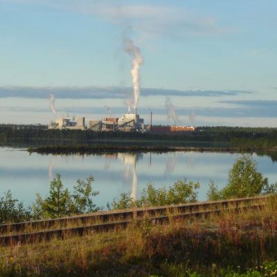 Stora Ensos nedlagda fabrik i Kemijärvi