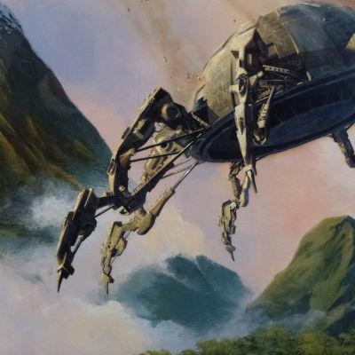 Kuva Scifi-aiheisesta maalauksesta.