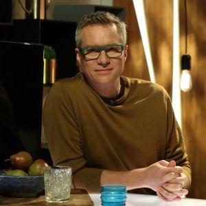 Mårten Svartström i Efter Nios studio.