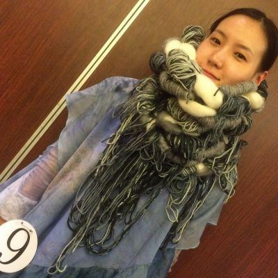 Kiinalainen huippumalli Li Xiaochen Pekingin muotiviikolla.