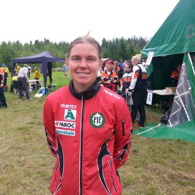 Yvonne Gunell från Pargas IF vann långdistansen i Purmo.