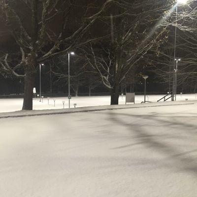 Lunta satoi Pirkanmaalla 8.11.2019 sen verran, että ensilumen sentin määritelmä vaikutti täyttyvän.