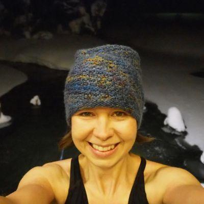 Tiina Puputti pyöräili, hiihti ja ui Lapissa Kiilopäällä jouluna.