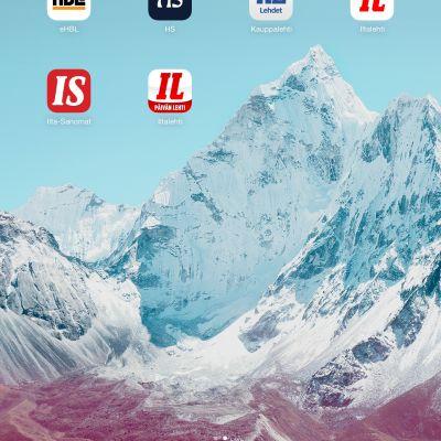Digilehtien iPad-sovelluksien kuvakkeita.