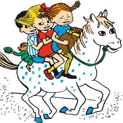 Illustration av Pippi Långstrump tecknad av Ingrid Vang Nyman
