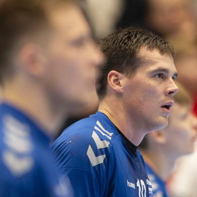Nico Rönnberg i kvalmatch mot Georgien 2020.