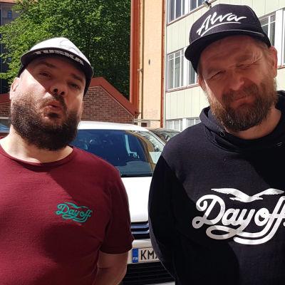 Stan up -koomikot Zaani ja Mika Eirtovaara.