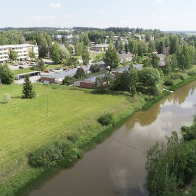 Punkalaitumenjoki ja taajama