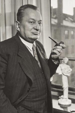Sibelius-Akatemian sävellyksen professori Aarre Merikanto 1950-luvun alussa.