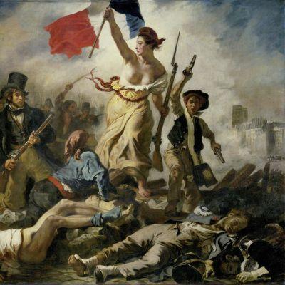 La Liberté guidant le peuple (1830).