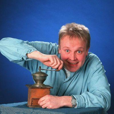 Kaffekvarnen med Mårten mellan melodierna från 1995