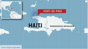Karta över Haiti.