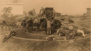 Saksalaisia sotilaita Ilmalassa 12.4.1918.