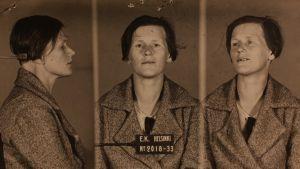 Etsivä Keskuspoliisin pidätyskuva Martta Koskisesta elokuussa 1933