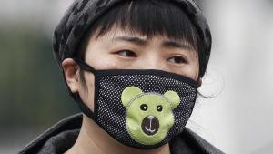 Kinesiska myndigheter i Beijing varnade för skadligt dålig luftkvalitet i mitten av november 2017.
