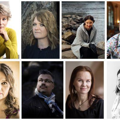 Selja Ahava, Ulrika Hansson, Kristiina Wallin, Jari Järvelä , Maria Peura, Tommi Kinnunen, Marisha Rasi-Koskinen ja Ann-Luise Bertell