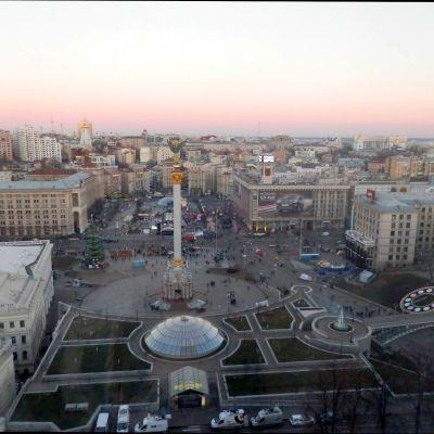Utsikt över Självständighetstorget i Kiev