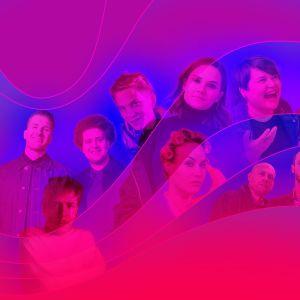 Yle Areenan tunnettuja kasvoja kollaasikuvassa