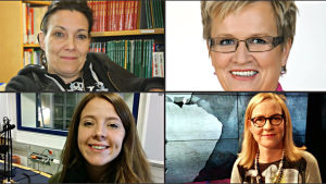 Nytte Ekman, Ulla-Maj Wideroos, Ida Schauman, Eva Biaudet,