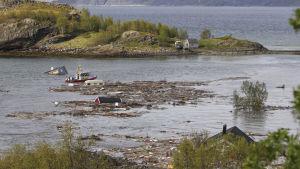 Jordskred vid Kråkneset i Alta, Norge 3.6.2020