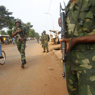 Kongolesiska fredasbevarare i CAR:s huvudstad Bangui