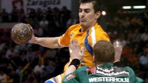 Patrick Westerholm spelar för danska Skjern Handball, mars 2007.