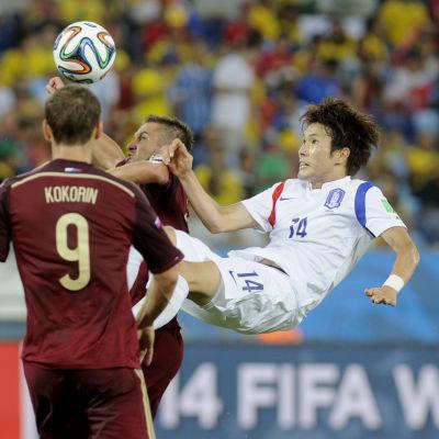 Ryssland-Sydkorea under VM 2014.