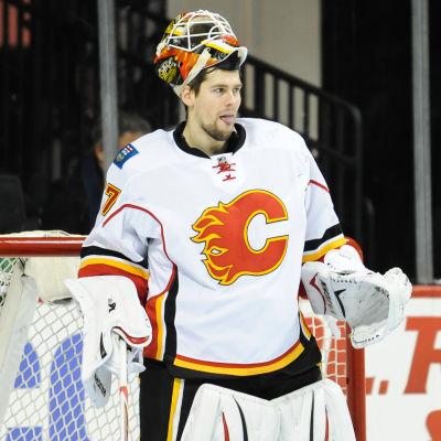 Joni Ortio, Calgary Flames oktober 2016.