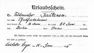 Tyskt semesterpass för jägare Jaatinen