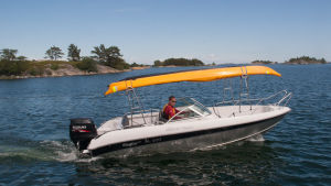 kajaktransport med båt