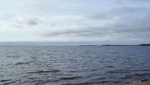 Sjön Säämäjärvi i ryska Karelen.