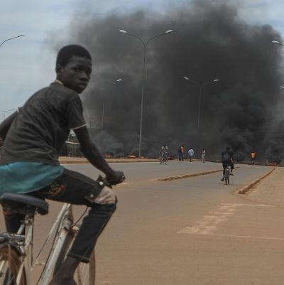 Oroligt i Burkina Fasos huvudstad Ouagadougou.