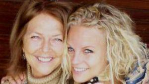 Författaren och dokumentärfilmaren Lasse Bergs fru Ingrid och dotter Linda.