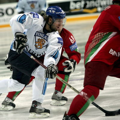 Tomi Kallio i elden vid VM 2006.