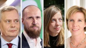 Ledarna för oppositionspartierna