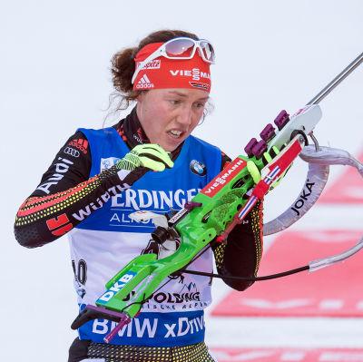 Laura Dahlmeier ska utmana om medaljerna i Oslo.