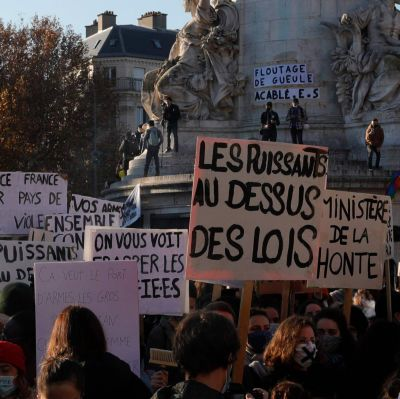 Demonstration i Paris mot polsibrutalitet.28.11.2020