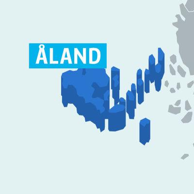 Karta på landskapet Åland