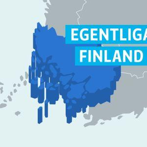 Karta på landskapet Egentliga Finland