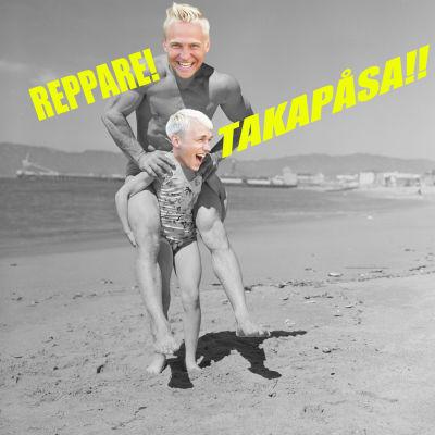 Photoshoppad bild på en man och en flicka.