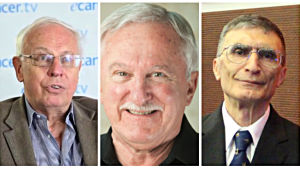 Tomas Lindahl, Paul Modrich och Aziz Sancar Nobels medicinpris 2015.