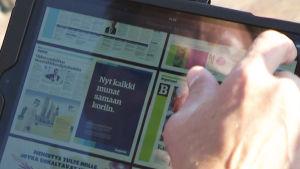 Sanomalehden tablettiversio