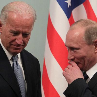 Joe Biden och Vladimir Putin träffades i Moskva i mars 2011.
