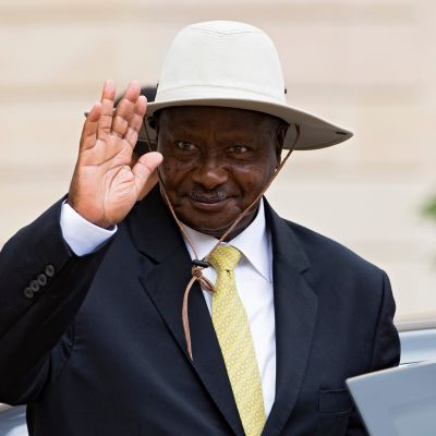 Ugandan presidentti Yoweri Museveni havittelee kuudetta jatkokautta.