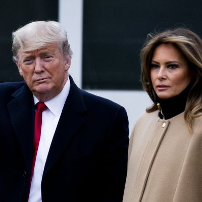 Donald och Melania Trump 31.1.2020