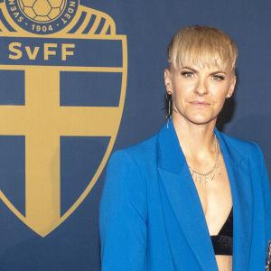 Nilla Fischer (till vänster), som vann VM-brons 2019, har varit engagerad i jämställdhetssfrågor.