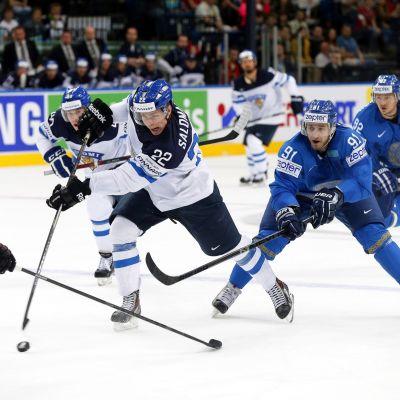 Miikka Salomäki representerade Finland i ishockey-VM 2014.