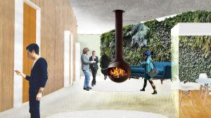 Studio Puisto/ Heikki Riitahuhta, Sampsa Palva & Yoko Alander ja Inphysica Technology ühismeeskond