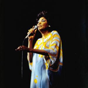 Jazzlaulajatar Nancy Wilson esiintyy Hesperin yökerhossa Helsingissä vuonna 1978.